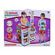 Детский игровой набор Магазин, со сканером, кассой, холодильником 668-02, со звуковыми и световыми эффектами, фото 2