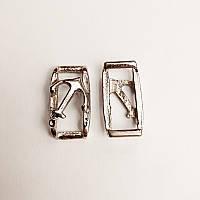 Украшение для сумки (пришивное), металл, никель (100шт)