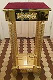 Подставка под ковчег или литейное блюдо на колоннах с декором, фото 2