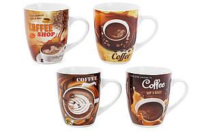 Кружка фарфоровая 350мл Coffee, 4 вида (334-415), фото 2