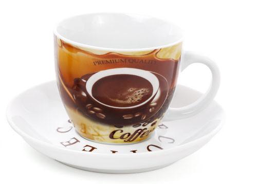 Набір кавовий: 4 чашки 225 мл з блюдцями (334-420)