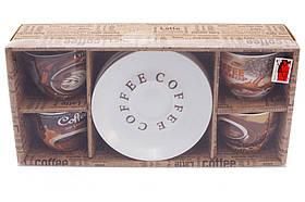 Набір кавовий: 4 чашки 225 мл з блюдцями (334-420), фото 3