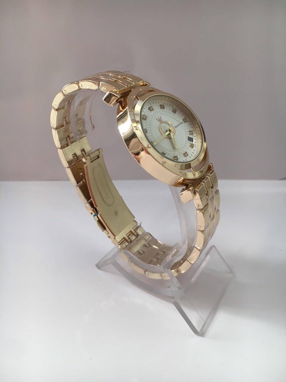 2025807b6633 Женские наручные часы Pandora (Пандора), золотистый корпус с белым  циферблатом, ...