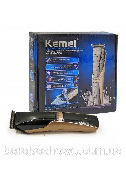 Машинка для стрижки акумуляторна Kemei Km-5018