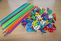 Палочки для шариков цветные с насадкой