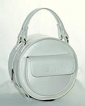 Женская, стильная, круглая перламутровая сумка