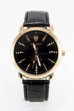 Мужские наручные часы Rolex (Ролекс), золотой корпус с черным циферблатом