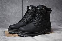Зимние ботинки на меху CAT Caterpilar Anti-Glide, черные (30543),  [  42 (последняя пара)  ]