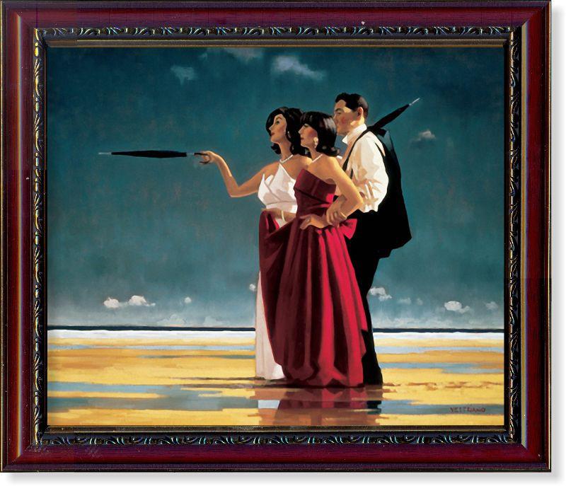 """Репродукція сучасної картини Джека Веттріано (Великобританія) """"Зниклий чоловік"""""""