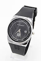 Женские наручные часы Givenchy (Живанши) серебристые с чёрным циферблатом