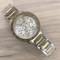 Женские наручные часы Pandora (Пандора), серебристо - золотой корпус и  серебристый циферблат 45b549a9a56