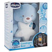 "Игрушка-подвеска ночник ""Медвежонок"", синий chicco 09156.20"