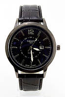 Мужские наручные часы Tissot (Тиссот), антрацитовый корпус с черным циферблатом