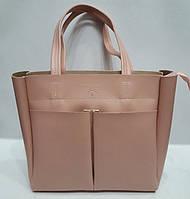 Женская сумка Prada(Прада), светло-розовая (пудровая)