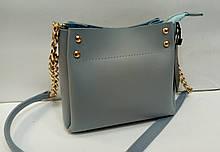 Женская мини-сумка, голубая