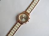 Женские часы золотистые с белым, фото 4