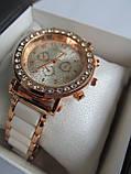 Женские часы золотистые с белым, фото 5