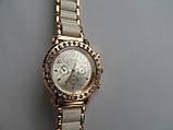 Женские часы золотистые с белым, фото 8