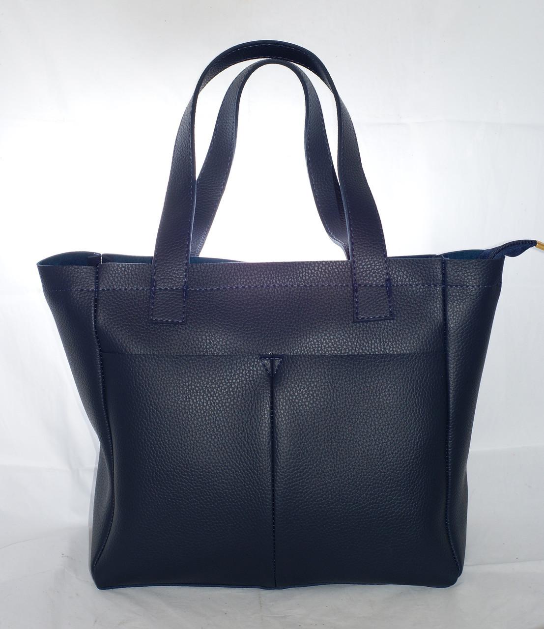 5faa496694ed Большая женская сумка-шоппер B.Elit, синяя - Интернет-магазин