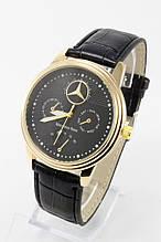 Мужские наручные часы Mercedes-Benz (Мерседес) золотые с чёрным циферблатом
