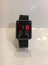 Наручные электронные LED часы, черный с серым