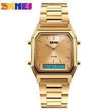 Мужские наручные часы SKMEI (Скмей), с золотым корпусом