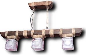 Люстра підвіс з натурального дерева на 3 лампи. 117603