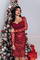 """Платье женское вечернее с кружевом размеры S-XL (2цв) """"OKSI"""" купить оптом и в розницу в Одессе на 7км"""