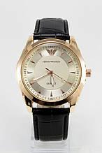 Мужские наручные часы Emporio Armani (Эмпорио Армани),золотой корпус с серебристым циферблатом