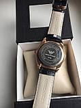 Мужские наручные часы Emporio Armani  (Эмпорио Армани), золотой корпус с серебристым циферблатом, фото 4