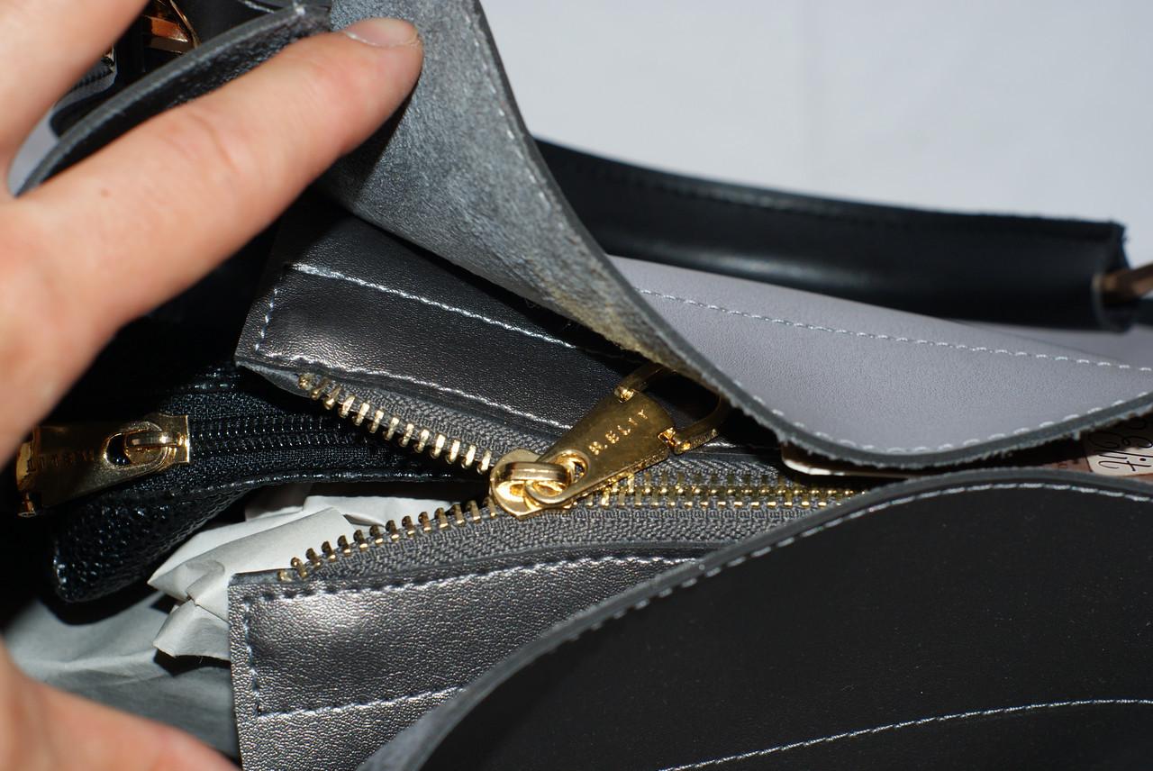 7f736e9b856a ... Женская сумка - шоппер B.Elit, цвет графит (серый) с черными ручками ...