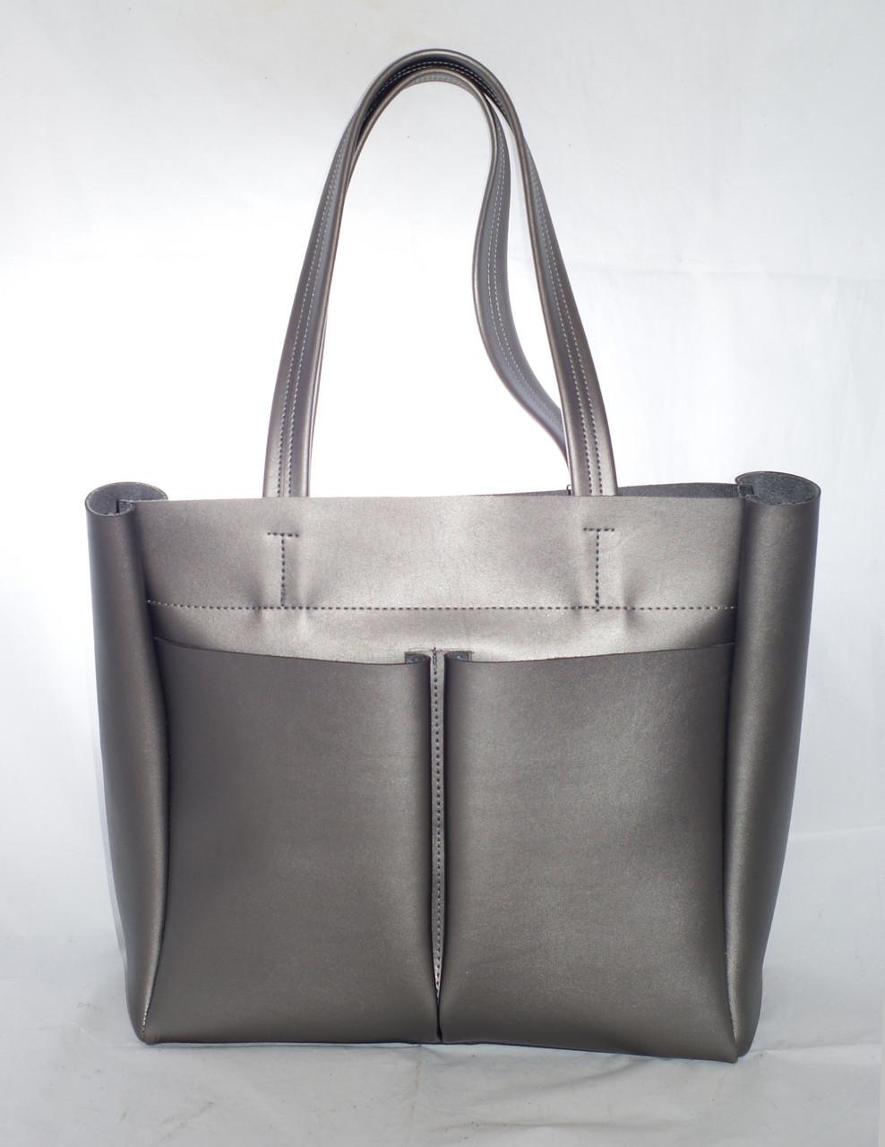 33112cfac8ef Большая женская сумка-шоппер B.Elit, цвет графит (серый), цена 569 ...