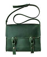 Satchel bag green, мессенджер зелёная, фото 1