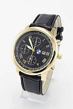 Мужские наручные часы BMW, золото с чёрным циферблатом