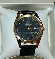 Мужские наручные часы Rolex ( Ролекс ) золото с чёрным циферблатом