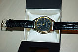 Мужские наручные часы Rolex ( Ролекс ) золото с чёрным циферблатом, фото 2