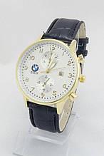 Мужские наручные часы BMW, золото с серебристым циферблатом