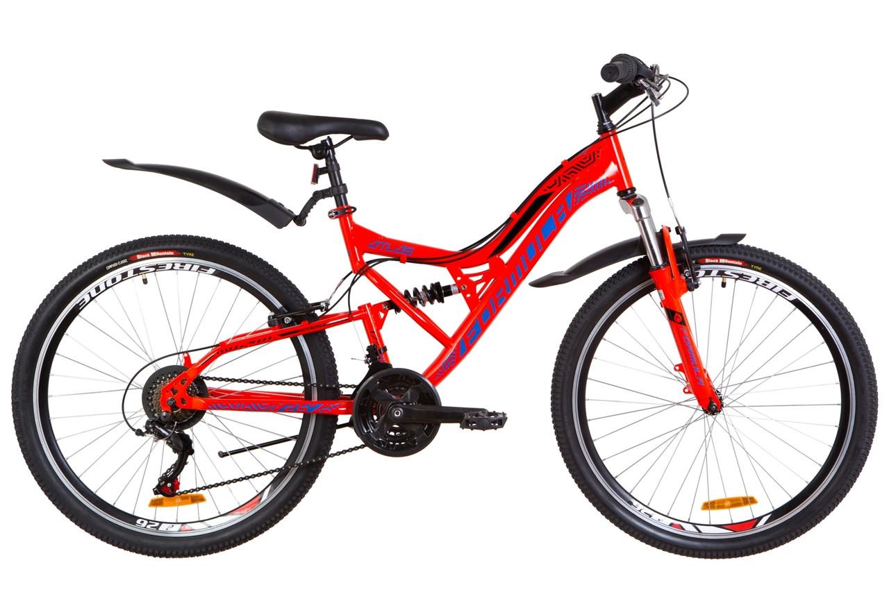 """Горный велосипед 26"""" Formula ATLAS AM2 14G Vbr St с крылом Pl 2019 (красно-синий)"""