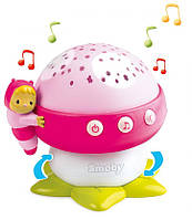 Музыкальный проектор Cotoons Грибочек (розовый цвет), Smoby Toys