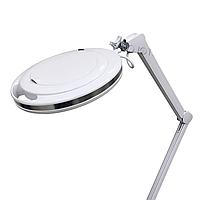 Лампа-лупа 6017 Led, 9W для наращивания ресниц, настольная (ободок металлический)
