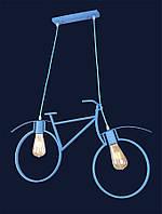 Люстра в стиле лофт голубая велосипед 756PR7021-2 BLUE