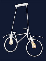 Люстра в стиле лофт белая велосипед 756PR7021-2 WH