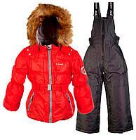 Комплект зимний для девочки GWG (2 предмета), Gusti, красный (104)