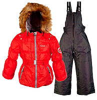 Комплект зимний для девочки GWG (2 предмета), Gusti, красный (116)