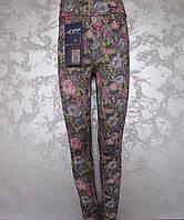 Лосины-брюки для девочек 116,122,128,134,140 роста Пурпурная роза, фото 1