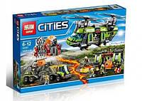 Конструктор Cities Грузовой вертолёт исследователей вулканов 02087 LEPIN