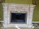 Реализованный проект камина - египетский мрамор, фото 2