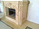 Реализованный проект камина - египетский мрамор, фото 4
