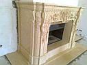 Реализованный проект камина - египетский мрамор, фото 5