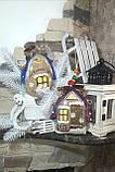 Современный коричный домик, ручная работа, разные цвета, выс.16 см., 140/120 (цена за 1 шт. + 20 гр.), фото 2